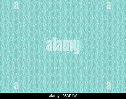 Zusammenfassung von blauen Streifen Linienmuster von Zig Zag Hintergrund Op Art, Vector EPS 10. - Stockfoto