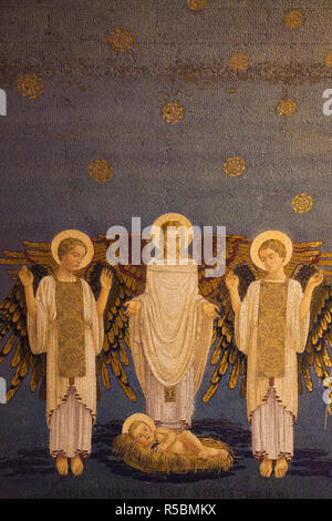 Israel, Galiläa, Berg Tabor, Ort der biblischen Verklärung, franziskanische Basilika der Verklärung religiöse Gemälde - Stockfoto