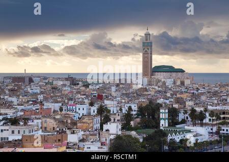 Hassan II Moschee, die drittgrößte Moschee der Welt, Casablanca, Marokko, Nordafrika - Stockfoto