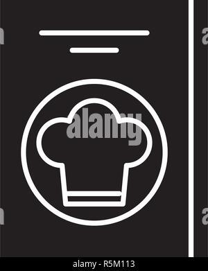 Restaurant schwarze Symbol, Vektor Zeichen auf isolierten Hintergrund. Restaurant Konzept Symbol, Abbildung - Stockfoto