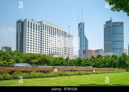 Fassade Blick auf Shanghai City Hall in China - Stockfoto