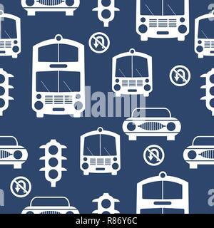 Nahtlose Autos Muster wiederholen Fliesen Hintergrund - Stockfoto