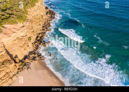 Luftaufnahme von Redhead Strand - eine beliebte surfen Strand südlich von Newcastle - Stockfoto
