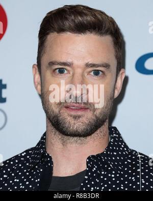 LAS VEGAS, NV, USA - 22. SEPTEMBER: Justin Timberlake in der Presse während der 2018 iHeartRadio Music Festival - Nacht 2 bei der T-Mobile Arena am 22. September 2018 in Las Vegas, Nevada, USA. (Foto von Xavier Collin/Image Press Agency) - Stockfoto