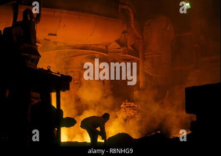 Stahlwerk in Indien - Stockfoto