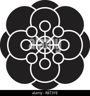 Anemone schwarz Vektor Konzept Symbol. Anemone flachbild Illustration, Zeichen - Stockfoto