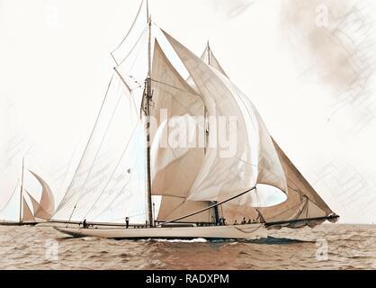 Mayflower, Goelet Cup Rennen, Mayflower (Schoner), Goelet Cup Rennen, Yachten, Regatten, 189. Neuerfundene - Stockfoto