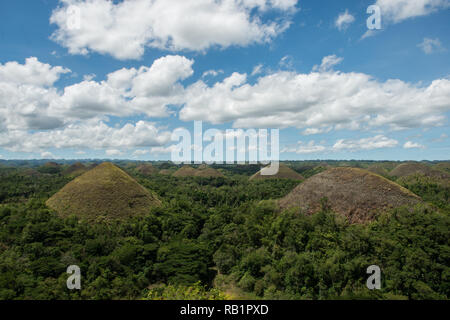 Chocolate Hills - Bohol, Philippinen - Stockfoto