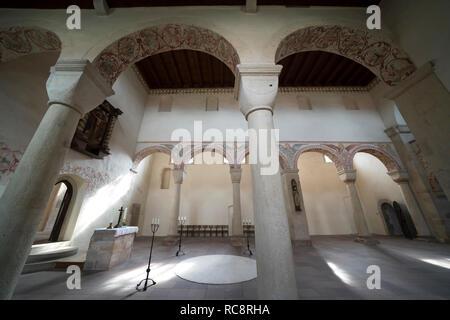 Die romanische Basilika Kloster Bursfelde, Hemeln, Hannoversch Münden, Niedersachsen, Deutschland, Europa - Stockfoto