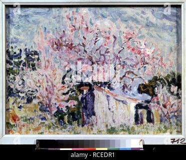 Frühling in der Provence. Museum: Staat A Puschkin-Museum für bildende Künste, Moskau. Autor: Signac, Paul. - Stockfoto
