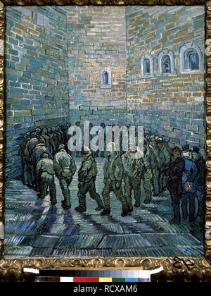 Das Gefängnis Innenhof. Museum: Staat A Puschkin-Museum für bildende Künste, Moskau. Autor: Van Gogh, Vincent. - Stockfoto