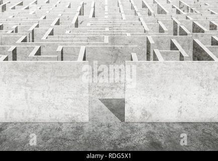 Labyrinth 3D-Darstellung - Stockfoto