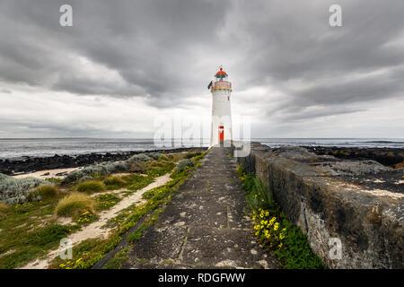 Port Fairy Leuchtturm auf Griffith Insel. - Stockfoto