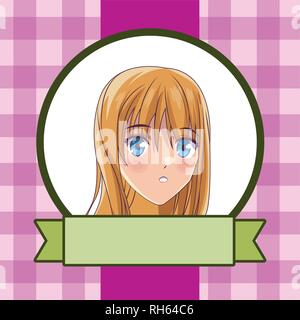 Anime manga girl - Stockfoto