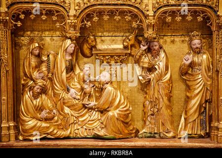 Altargemälde de la Crucifixion, Salle des Retables de la Chartreuse de Champmol, Jacques de Baerze und Melchior Broederlam, Museum der schönen Künste, Museum der - Stockfoto
