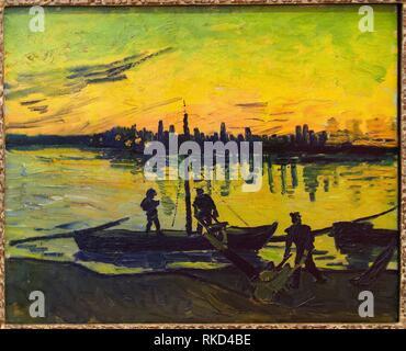 ''' Die Stauer in Arles'', 1888, Vincent van Gogh, Thyssen Bornemisza Museum, Madrid, Spanien - Stockfoto