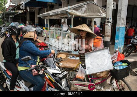 Singkawang Markt, West Kalimantan, Indonesien - Stockfoto