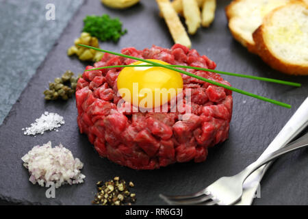 Steak Tartare, Zahnstein Steak, Beef Tartar - Stockfoto