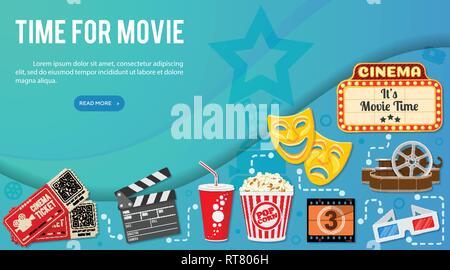 Kino und Film Banner - Stockfoto