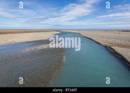 Fluss im Südosten von Island - Stockfoto