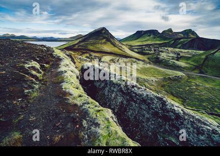Surreal und bunte Landschaft von Island mit niemand um - Stockfoto