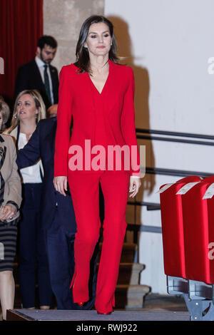 Madrid, Spanien. 06 Mär, 2019. Queen Letizia nimmt die Verkündigung der Gewinner des 2019 Prinzessin von Girona bei Complejo kulturellen San Francisco in Caceres, Spanien am 6. März 2019. Credit: Jimmy Olsen/Medien Punch *** Keine Spanien***/Alamy leben Nachrichten - Stockfoto