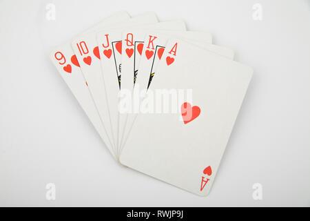 Ace in der Taille - Karten auf hellen Hintergrund - Stockfoto