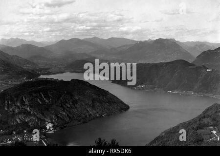 Belvedere, Marzio Berg, Lugano, Schweiz 1950 - Stockfoto