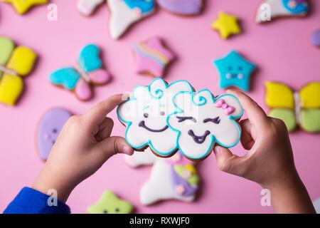 In der Hand Cloud - Stockfoto