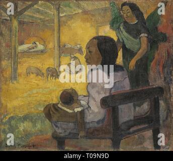 """""""Sein (die Krippe)'. Frankreich, 1896. Abmessungen: 67 x 76,5 cm. Museum: Staatliche Eremitage, St. Petersburg. Autor: Paul Gauguin. PAUL GAUGUIN. Eugéne Henri Paul Gauguin. - Stockfoto"""