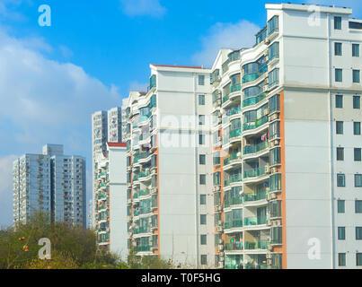 Typische Shanghai Wohngebiet kondominiumgebäude. China - Stockfoto