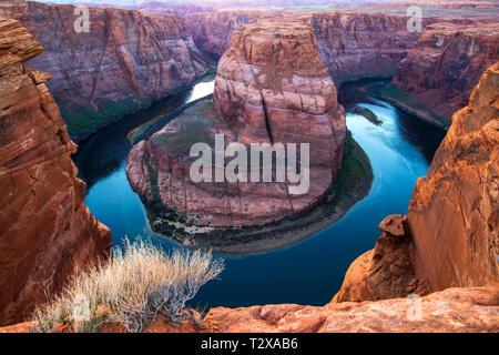 Horseshoe Bend in Colorado River in der Nähe von Page, Arizona, USA - Stockfoto