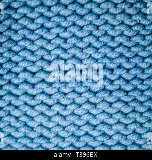 Blauen Stoff Kammgarn Textur. Hintergrund, Handwerkskunst. - Stockfoto