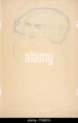 Kopf einer Frau, C. 1916. Schöpfer: Klimt, Gustav (1862-1918). - Stockfoto