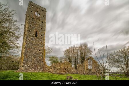 St Martins Ruinen, Shotesham, Norfolk - Stockfoto