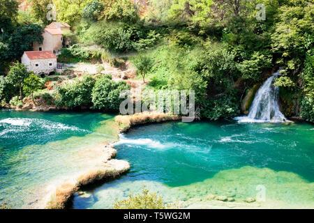 Krka, Sibenik, Kroatien, Europa - genau dort, wo Sie den Rest Ihres Lebens zu verbringen - Stockfoto