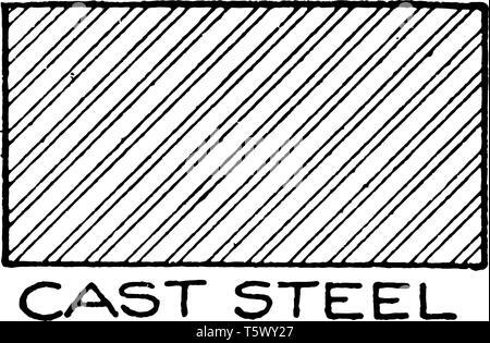 Zeichnung der mechanischen Bauteile der Schraffuren Stahlguss oft günstiger ist, die Zeichnung Abschnitt Farbton wird durch die vertikale Ebene Federstahl wi Schnitt - Stockfoto