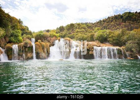 Krka, Sibenik, Kroatien, Europa - genießen Sie den beruhigenden Wasserfälle von Krka Nationalpark - Stockfoto