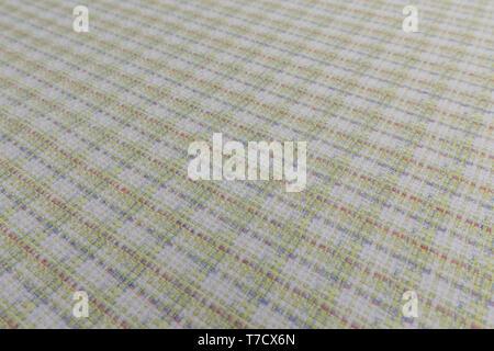 Schöne Nahaufnahme von tartan Stoff mit textilen Textur Hintergrund - Stockfoto