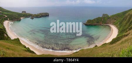 Spanien, Gemeinschaft von Asturien, Lena, in der Nähe von Llanes, Torimbia Strand - Stockfoto