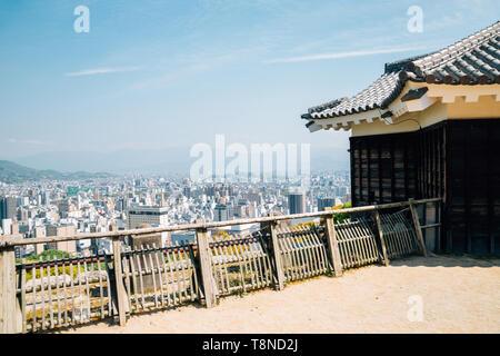 Matsuyama City Blick von Matsuyama Castle in Shikoku, Japan - Stockfoto