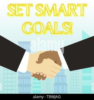Handschrift Text schreiben Set SMART-Ziele. Konzeptionelle foto Liste zu klären ihre Ideen konzentrieren sich die Bemühungen der Zeit klug verwenden - Stockfoto