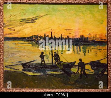 ''' Die Stauer in Arles'', 1888, Vincent van Gogh, Thyssen Bornemisza Museum, Madrid, Spanien, Europa - Stockfoto