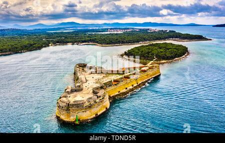 St. Nikolaus Festung in der Nähe von Sibenik in Kroatien - Stockfoto