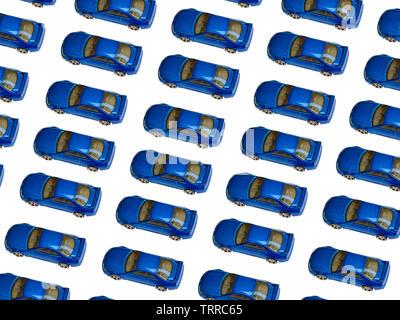 Alte blaue Auto Spielzeug Muster. Getönten Bild. - Bild - Stockfoto