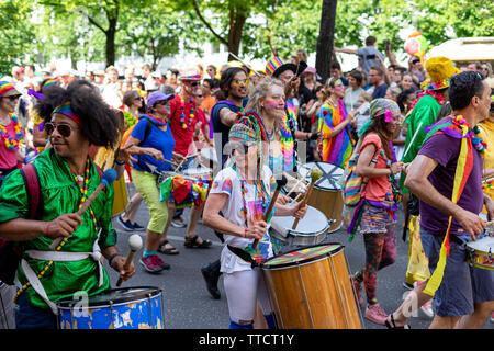 Der jährliche Karneval der Kulturen (Karneval der Kulturen) feierten rund um das Pfingstwochenende. - Stockfoto