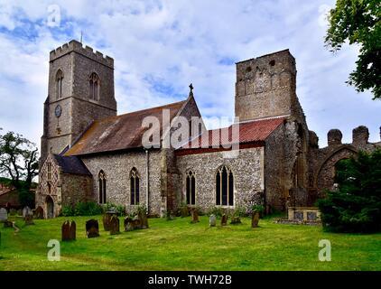 Weybourne Klosterkirche, auch als alle Heiligen bekannt. - Stockfoto