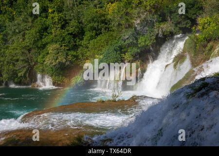 Skradinski buk Wasserfall im Nationalpark Krka, Kroatien - Stockfoto