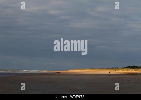 Frankreich, Saint-Jean-de-Monts, 85, Strand - Stockfoto