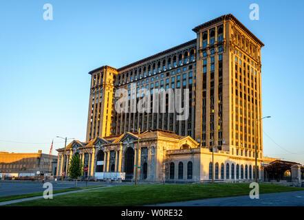 Historische Gebäude in Detroit Zentrale Aufgabe - Stockfoto